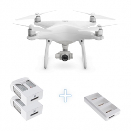 DJI Phantom 4 Camera Drone with two additional Intelligent Flight Batteries + Battery Charging Hub