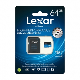 Карта памет Lexar High-Performance 633x Micro SDXC UHS-I 64GB