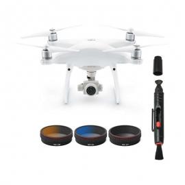 Комплект от сив, оранжев и син градиентни филтри за дрон DJI Phantom 4 Pro + инструмент за почистване и калъф