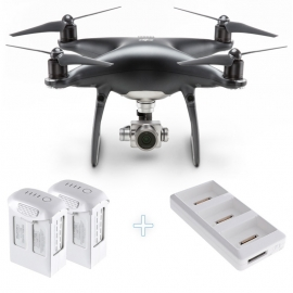 DJI Phantom 4 Pro Obsidian with two additional batteries and charging hub