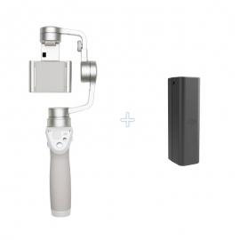 DJI OSMO Mobile Silver + допълнителна батерия 980 mAh