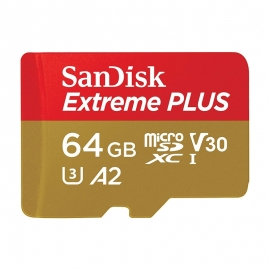 Карта памет SanDisk Micro SD Extreme Plus 64GB V30