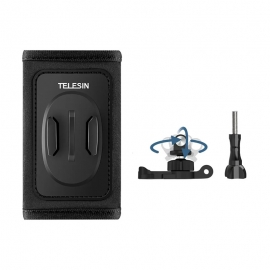 TELESIN 360° Rotate Backpack Mount Quick Release Adjustable Buckle Double J-hook