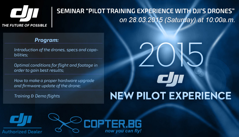 Workshop DJI, Copter.BG and Copters.EU