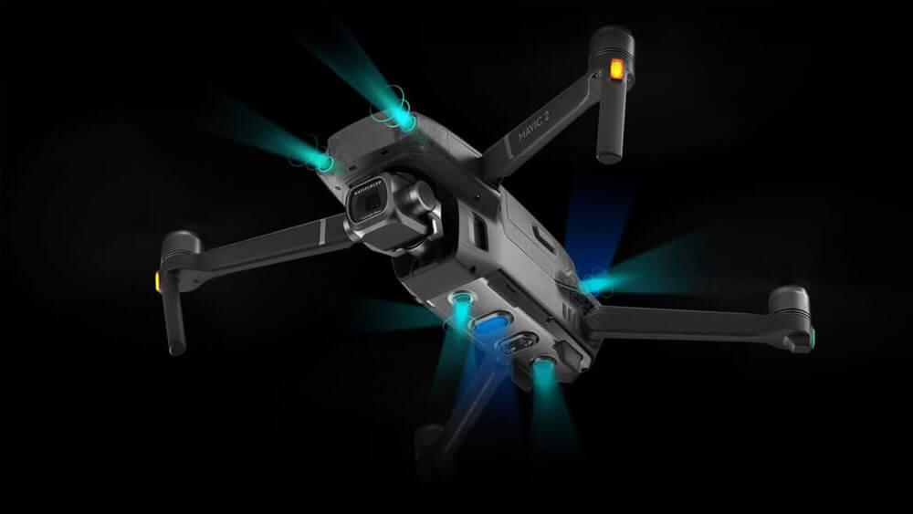 Откриване на препятствия във всички посоки с дрон Mavic 2 Zoom