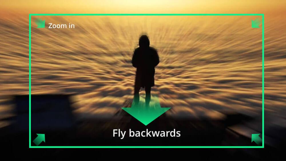 Приближаване по време на полет с дрон Mavic 2 Zoom