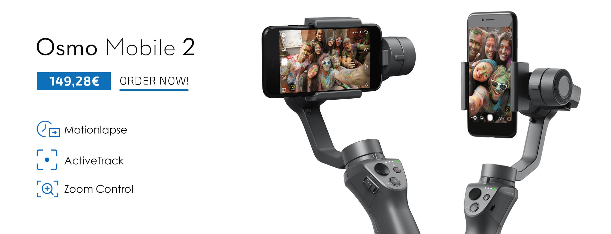 Buy DJI OSMO Mobile 2 on a great price from COPTER.BG