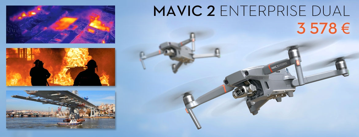 Order new Mavic 2 Enterprise with Dual Camera at a great price, only from COPTER.BG
