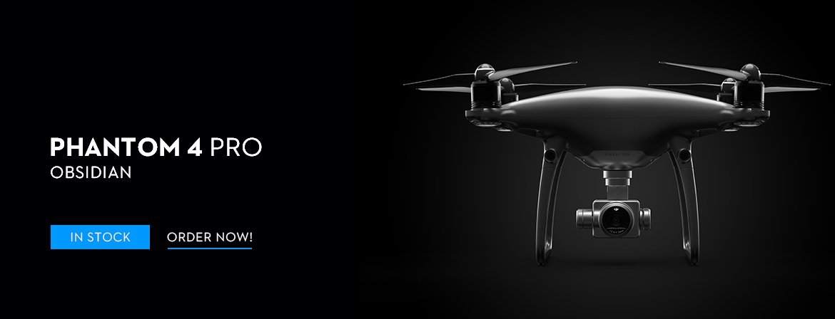 The DJI Phantom 4 Pro Obsidian Camera Drone is in stock at COPTER.BG! Order now!