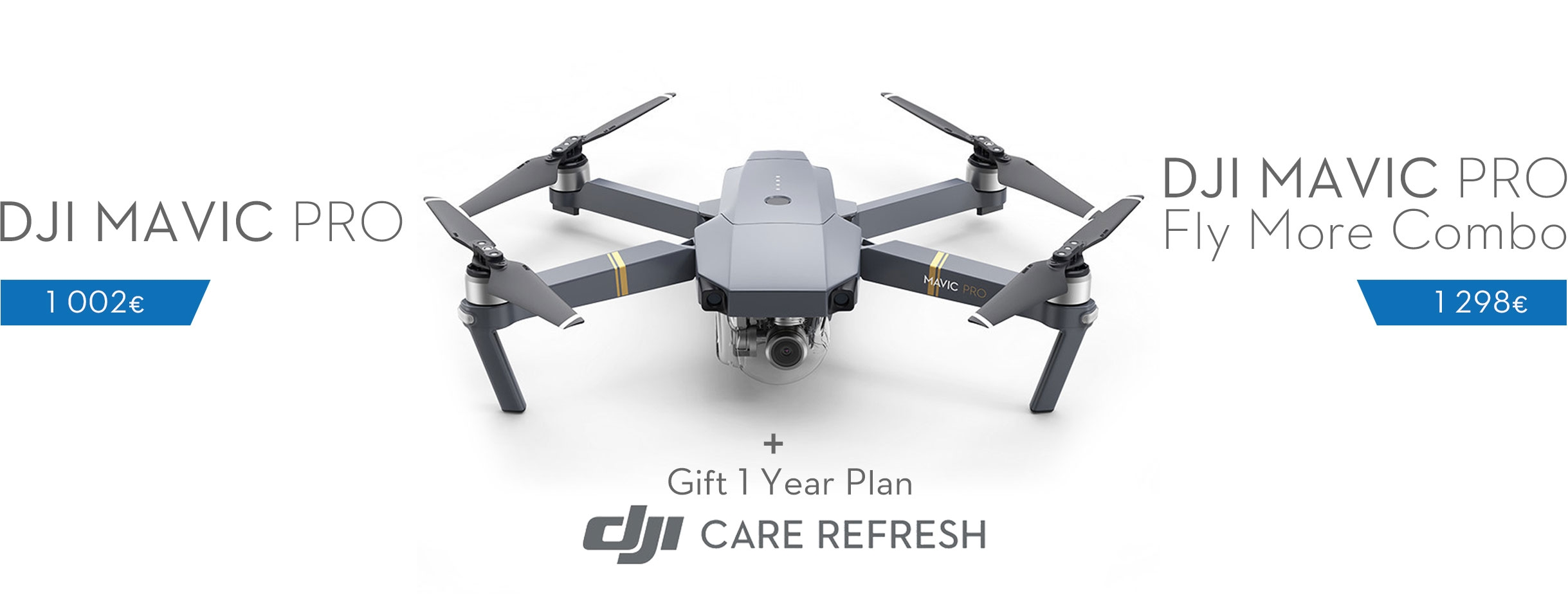 Order DJI Mavic Pro and Mavic Pro Fly More Combo with Gift 1 Year Plan DJI Care Refresh