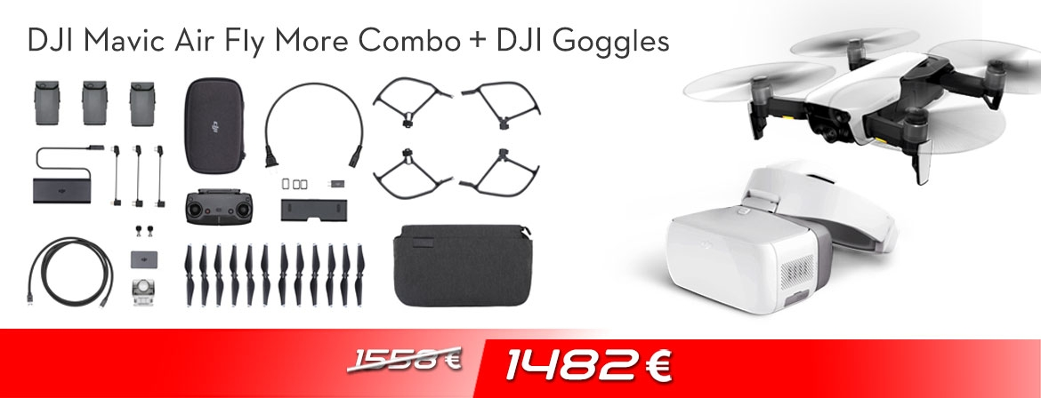 Our newest bundle DJI Mavic Air Fly More Combo + DJI Goggles comes with an impressive and tempting price. Order now from COPTER.BG!
